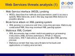 web services threats analysis 1