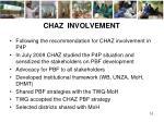 chaz involvement