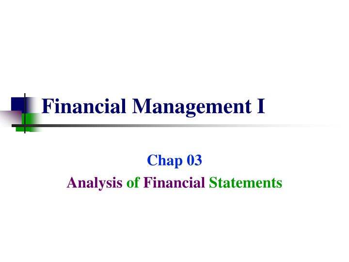financial management i n.