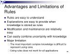 advantages and limitations of rules