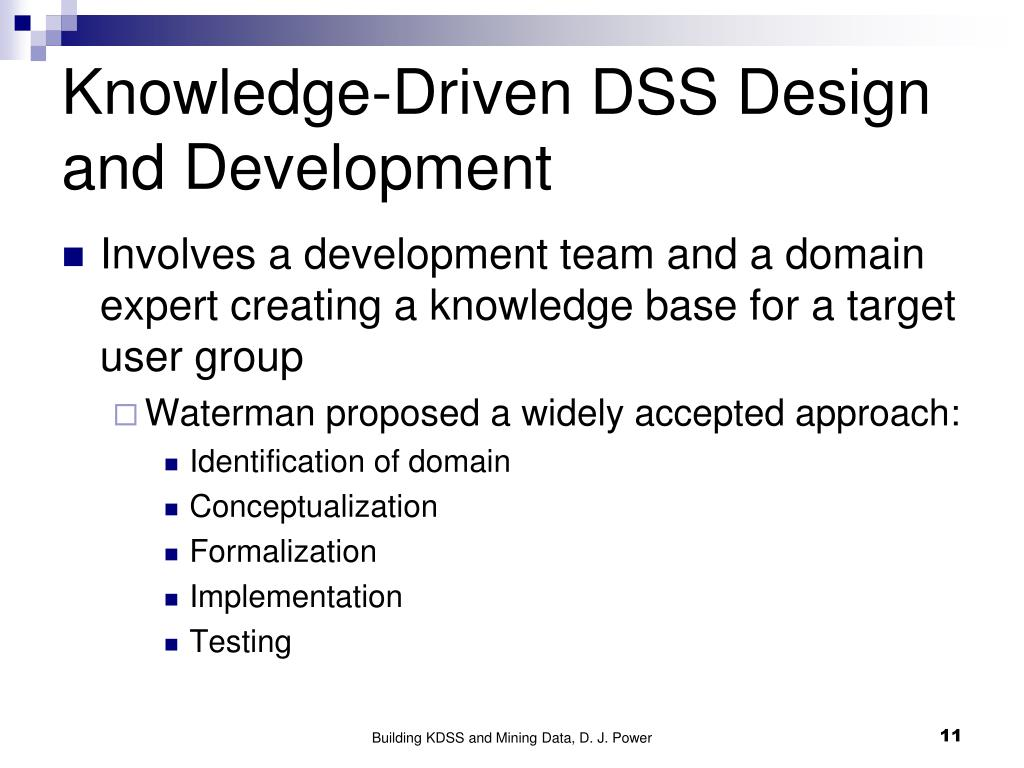PPT - Building Knowledge-Driven DSS and Mining Data