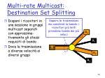 multi rate multicast destination set splitting