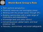 world bank group s role