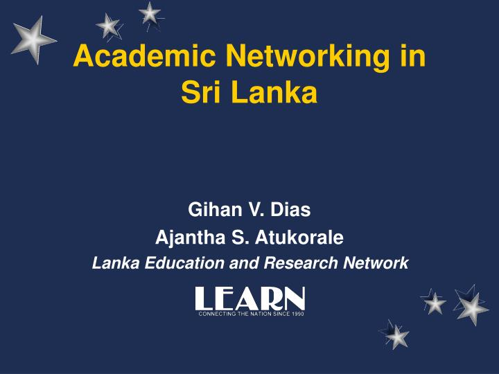 academic networking in sri lanka n.
