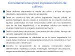 consideraciones para la preservaci n de cultivos