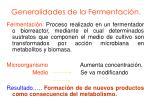 generalidades de la fermentaci n