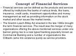 concept of financial services