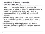 functions of state financial corporations sfcs