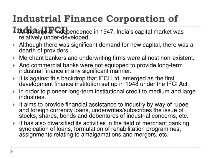 Industrial Finance Corporation of India (IFCI)