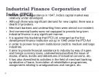 industrial finance corporation of india ifci