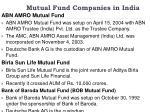 mutual fund companies in india