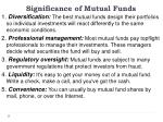 significance of mutual funds