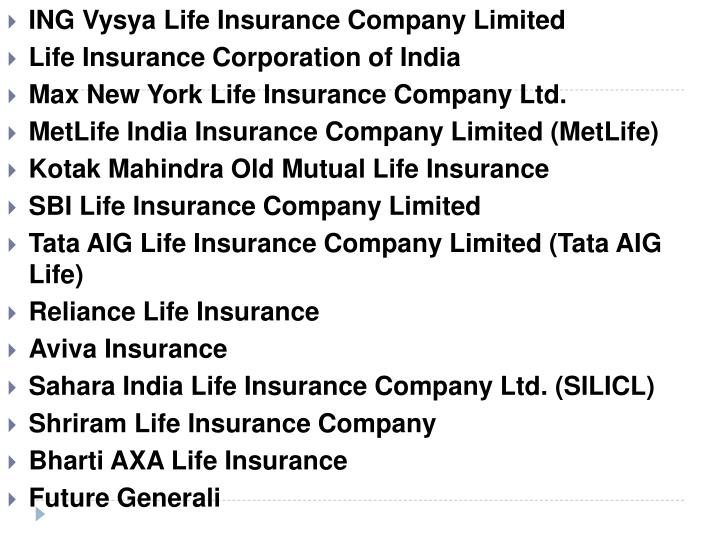 ING Vysya Life Insurance Company Limited