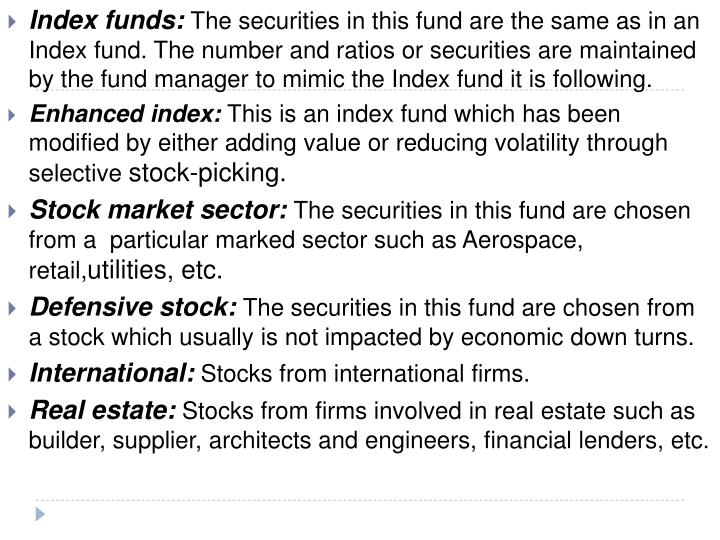 Index funds: