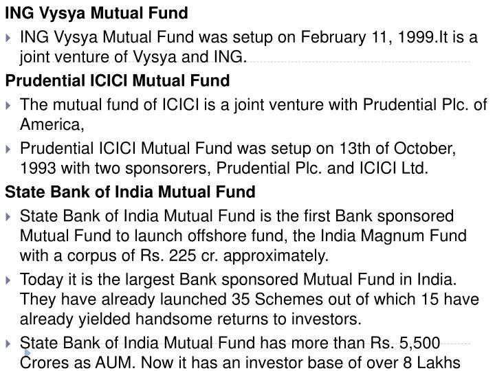 ING Vysya Mutual Fund