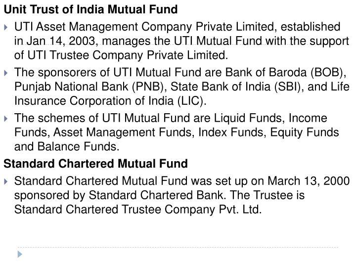 Unit Trust of India Mutual Fund