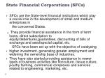 state financial corporations sfcs