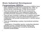state industrial development corporations sidcs