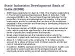 state industries development bank of india sidbi