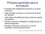 principios generales para la formulaci n