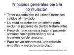 principios generales para la formulaci n1