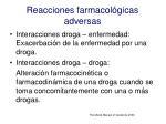 reacciones farmacol gicas adversas