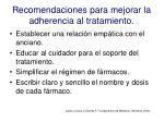recomendaciones para mejorar la adherencia al tratamiento