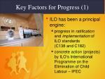 key factors for progress 1