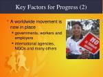key factors for progress 2