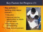 key factors for progress 3