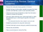 document file review general guidelines