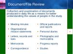 document file review