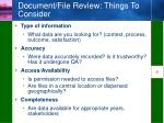 document file review things to consider