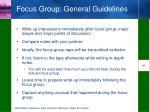 focus group general guidelines1