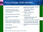 focus groups skills needed
