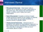 interviews format