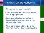 interviews general guidelines2