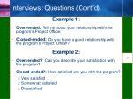 interviews questions cont d1