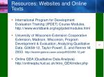 resources websites and online texts