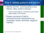 step 4 identify patterns and themes