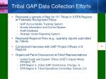 tribal gap data collection efforts