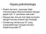 gejala psikofisiologis