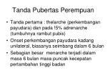 tanda pubertas perempuan