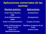 aplicaciones comerciales de las auxinas