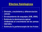 efectos fisiologicos