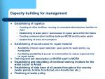 capacity building for management