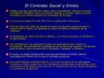 el contrato social y emilio