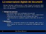 la conservazione digitale dei documenti
