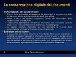 la conservazione digitale dei documenti1