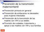 prevenci n de la transmisi n maternoinfantil